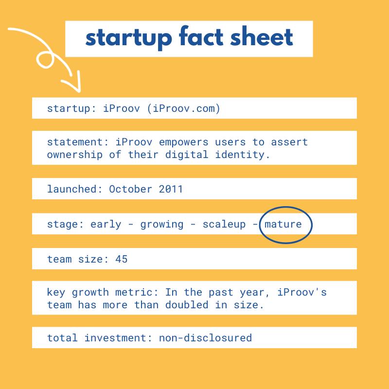 iProov startup fact sheet