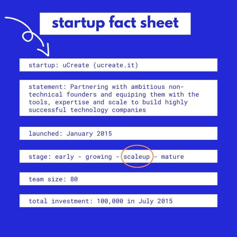 ucreate fact sheet,