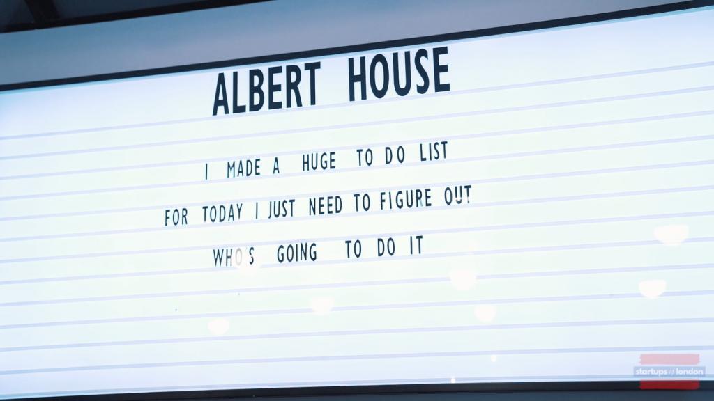 albert house entrence wall